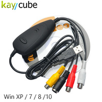 10pcs Ezcap172 USB Video Grabber Audio Converter DVD Maker Capture Video from VHS 8MM Game Player TV Camera Win7/8 32/64bits10
