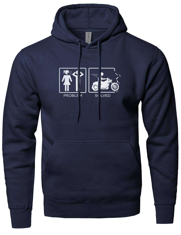 2019 Hot Sale Hoodies Men's Sweatshirts Print Problem Solved Funny Hoody For Men Fleece Winter Spring Sportsman Wear Harajuku