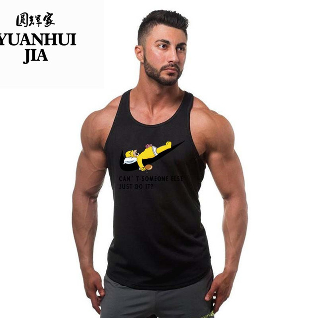 New Fashion Just Do It Vest Brand Clothing Hip Hop Letter Print Men Tank Top Short Sleeve Anime High Quality Fitness Tank Top
