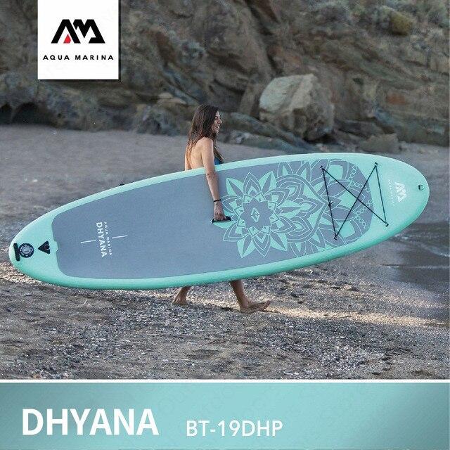 AQUA MARINA DHYANA Junta Sup tabla de surf Paddle Junta Yoga Bodyboard deportes acuáticos Yoga surf placa 336*91*12 cm