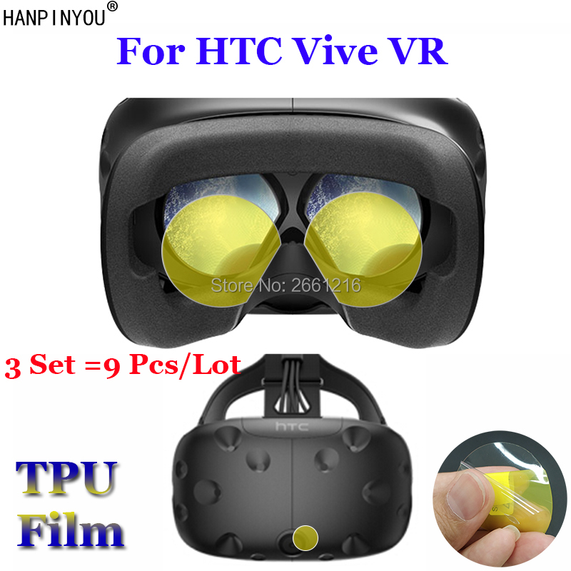 3 Set =9 Pcs/Lot For HTC Vive VR Soft TPU Film Explosion-proof Screen Protector