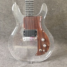 New product Dan Acrylic Electric Guitar G15-03 Crystal Electric Guitar High Quality  Rosewood Pickguard free shipping 2012 new arrival es 335 ebony fingerboard red pearloid pickguard jazz hollow electric guitar high gloss finished