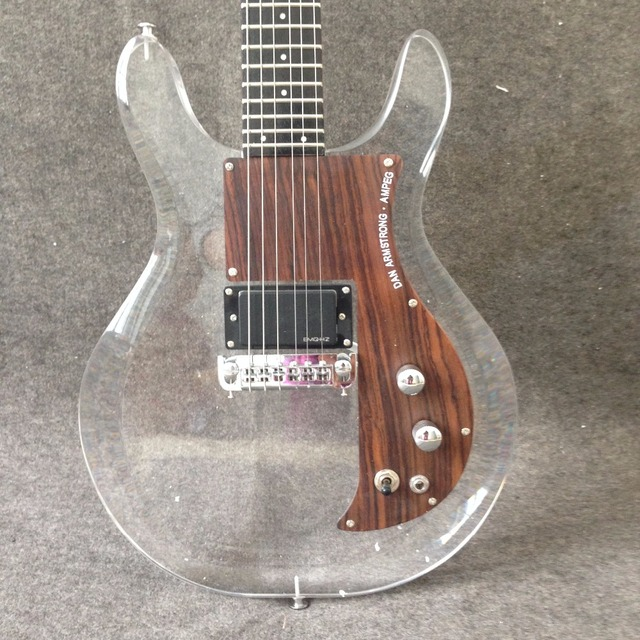 New product Dan Acrylic Electric Guitar G15-03 Crystal Electric Guitar High Quality  Rosewood Pickguard