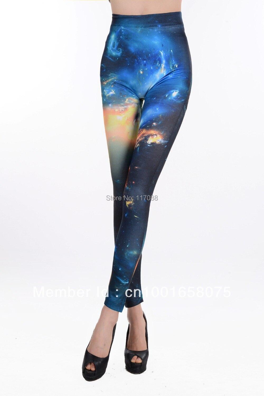FREE SHIPPING ML7609 Women Galaxy Leggings Space Print ...