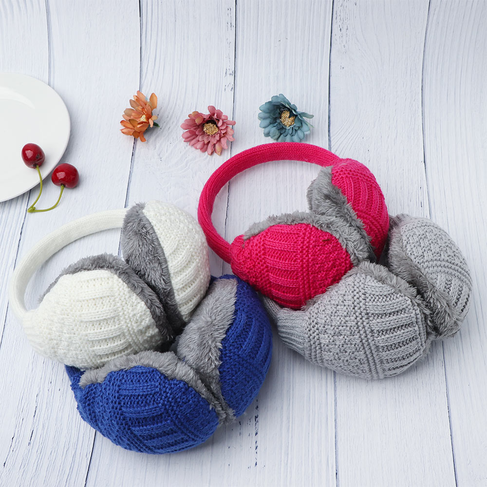 New Women Man Earmuffs Winter Ear Muffs Earwarmers Earflap Warmer Headband Unisex Round Ear Cover Knitted Plush HOT