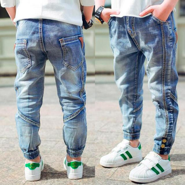 a764a4a4b Brand Jeans Boys Jeans Kids Trousers Fashion Children Boys Jeans Kids  Fashion Denim Pants Baby Casual Pants Infant 4-16Y