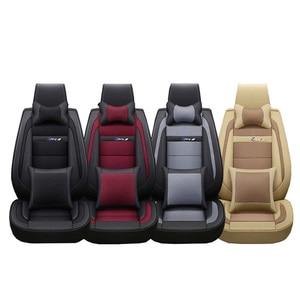 Image 5 - חדש יוקרה עור אוניברסלי רכב מושב כיסוי עבור טויוטה כל מודלים טויוטה rav4 טויוטה קורולה chr לנד קרוזר פראדו premio קאמרי