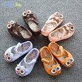 Sandálias da menina do bebê sandálias meninas recém-nascidos 2017children's colorido da coruja verão geléia confortável crianças dos desenhos animados shoes