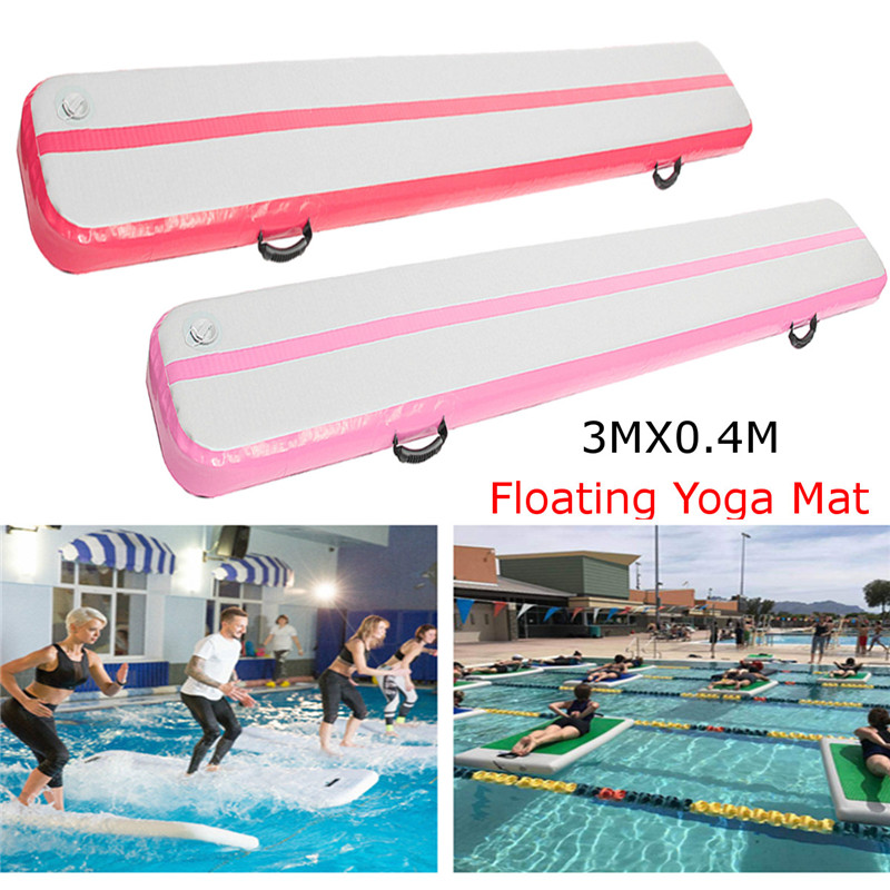 High Quality 300*40*15cm Inflatable Tumbling Mat Air Tracks Home Gymnastics Pads Fitness Yoga Mat Gym Exercise Mats Without Pump dmasun slip resistant yoga blanket good quality gymnastics yoga mat towel non slip fitness bikram towels