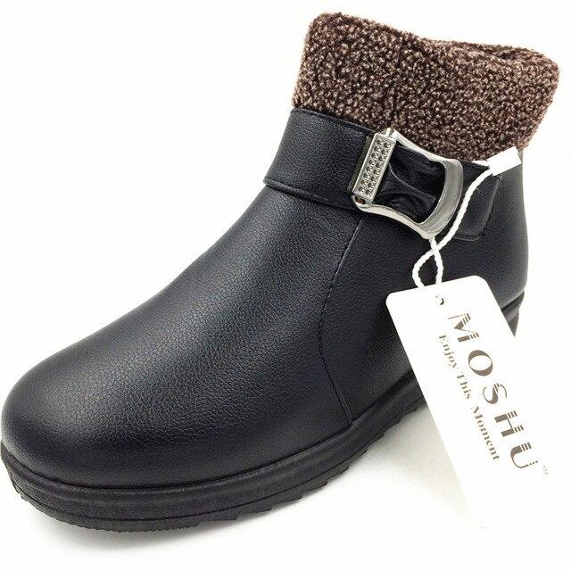 0511236252d23 Delle donne di Inverno Stivali Caldi della Neve del Cuoio Della Caviglia Stivali  Da Donna Scarpe