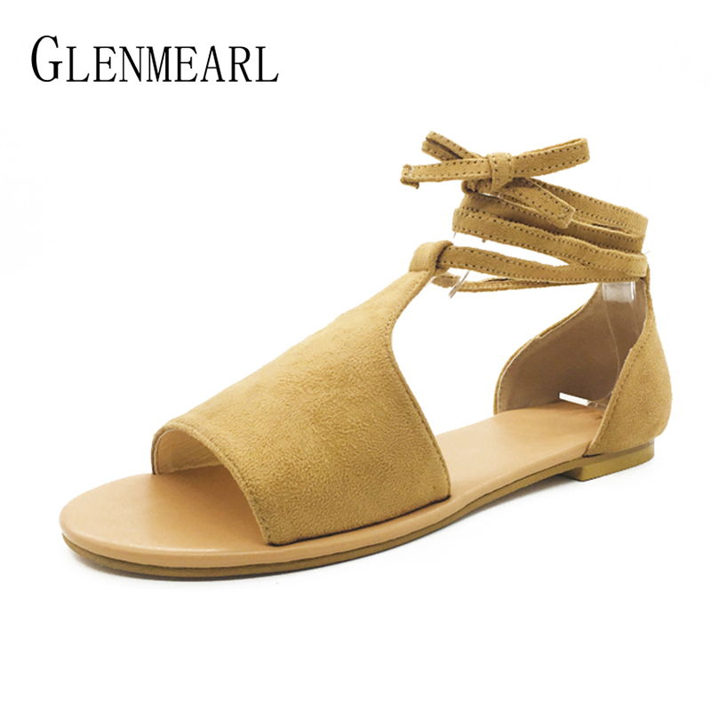 2018 Summer Shoes Woman Flat Sandals Casual Ankle Strap Open Toes Women Sandals Brand Black Beach Shoes Female Plus Size New DE plus size 34 43 new summer shoes woman open toe women ankle strap wedges sandals casual low heel sandals women sandals