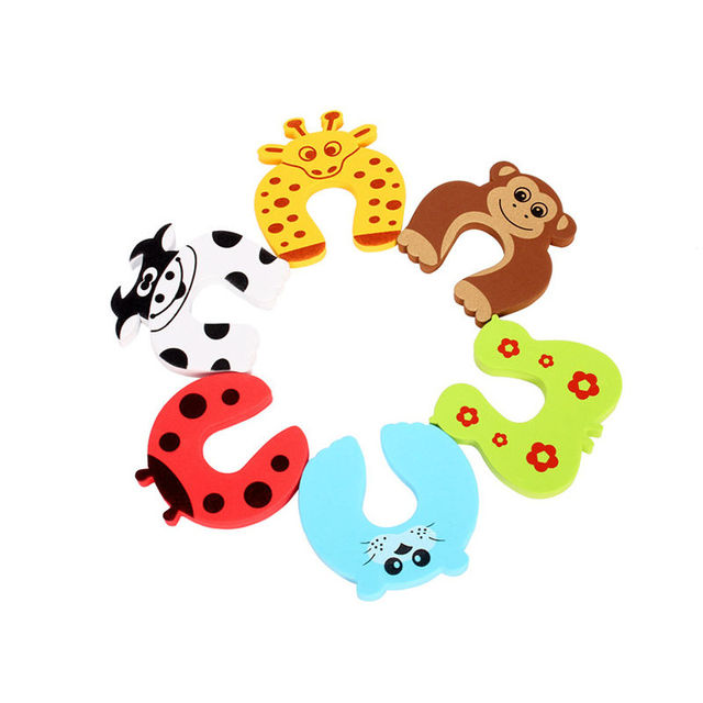 5pc/lot Animal Jammer Baby Kid Children Safety Care Protection Silicone Gates Doorways Decorative Magnetic Door Stopper Gates 2