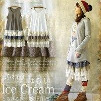 2015 Spring New Fluid All Match One Piece Dress Layered Dress