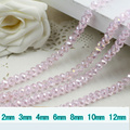 5040 AAA Top Quality Light Pink AB Color Loose Crystal Glass Rondelle beads.2mm 3mm 4mm,6mm,8mm 10mm,12mm Free Shipping!