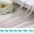 5040 AAA Top Quality Rosa Claro Cor AB Cristal Solto Rondelle De Vidro beads.2mm 3mm 4mm, 6mm, 8mm 10mm, 12mm Frete Grátis!