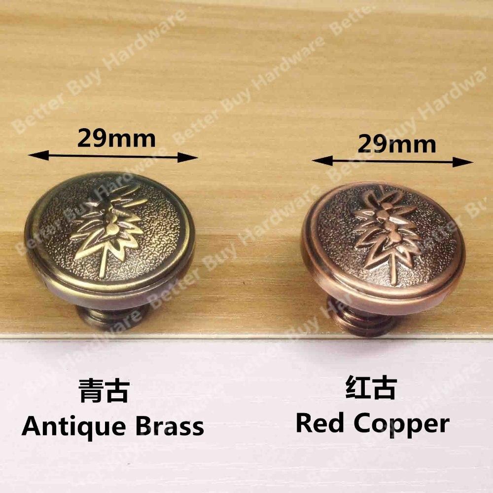 Einzigen Knob Antique Messing/Rot Kupfer Zinklegierung ...