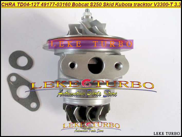 Turbo Cartridge CHRA TD04 49177-03160 1G565-17012 1G565-1701 For Mitsubishi Pajero L200 Bobcat S250 Skid Steer V3300-T 3.3L free ship turbo for kubota for bobcat tractor excavator pc56 7 4d87 v2403 rhf3 ck40 1g491 17011 1g491 17012 1g491 17010 turbine