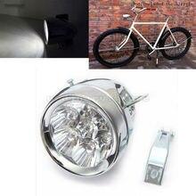 Супер яркий 7 LED Металл Серебристый Хром Винтаж мотоциклетные Велосипедный Спорт фар велосипед передний свет Ретро Велоспорт безопасного ночь фара