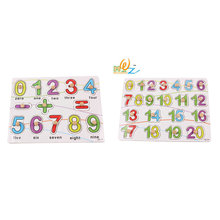 Free shipping, alphanumeric makeup, wooden puzzles, childrens early education teaching aid, educational toys, baby toys