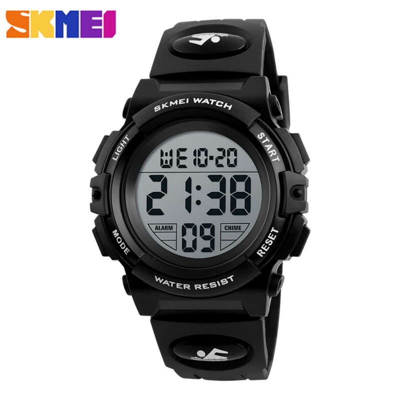 SKMEI Brand Children Watch Kids Outdoor Sports Watches Boys 50M Waterproof LED Display Digital Wristwatches Relogio Relojes 1266 children watch led digital sports relojes mujer boys girls fashion kids cartoon jelly relogio feminino wristwatches pinbo