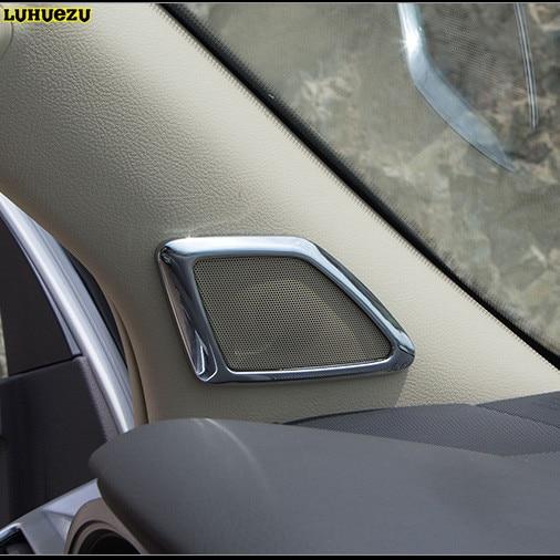 Luhuezu ABS Interior Horn Frame Decoration Cover For Toyota Land Cruiser Prado FJ 150 Accessories 2010 2017