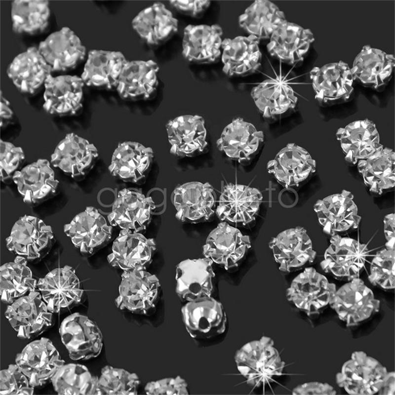 Hot 200pcs/lot Shiny Sparkle Clear Crystal Rhinestone Art Decor Craft Dress Clothing Bags DIY Decoration 3mm Sewing Accessories image