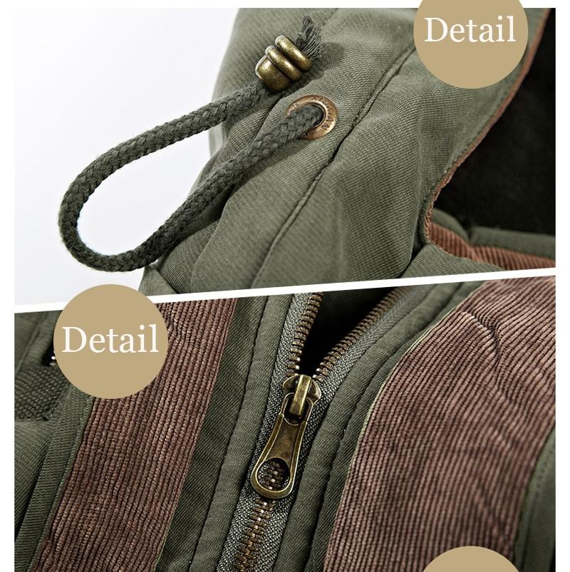 High Quality Men's Windbreaker Fleece Cotton Winter Jacket 9