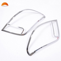 For Chevrolet Chevy Trax Tracker 2014 2015 2016 ABS Chrome Rear Tail light lamp cover frame Decoration Light Protection 2pcs