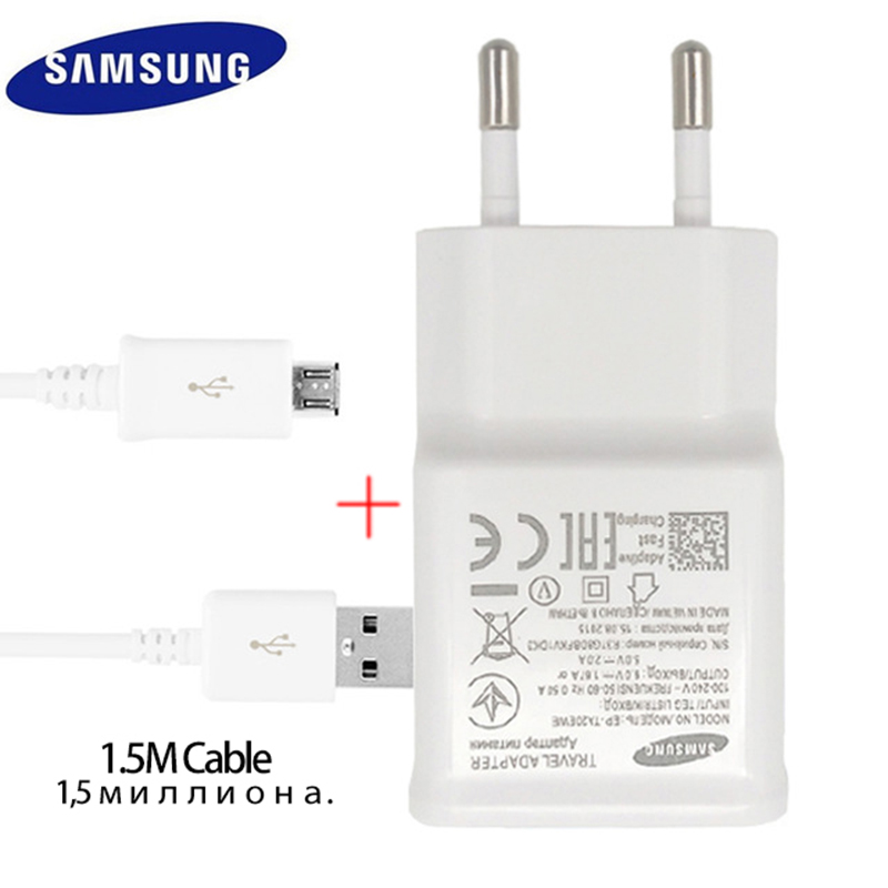 100% Original Samsung Fast Charger For Galaxy S7 6 Note4 5 Adaptive Quick Charge EU US Plug Travel Charging 9V 1.67A 5V 2A