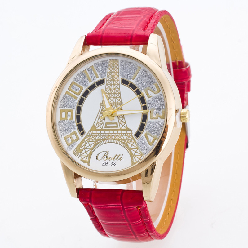 Eiffel Tower Women's Watch Women's Watch Casual Student Quartz Watch Waterproof Women's Watch