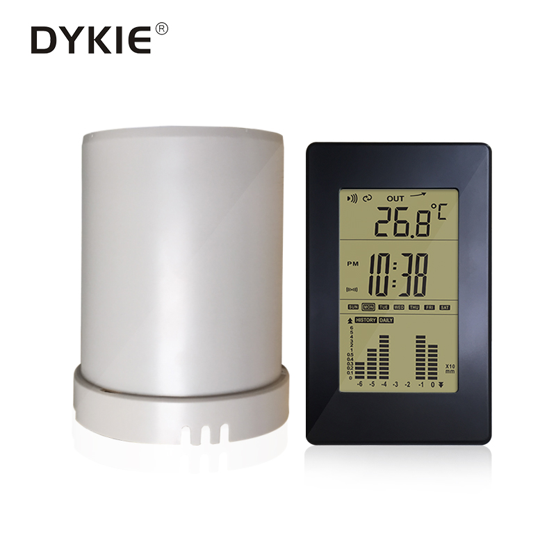 Digital Display Wireless Rain Gauge meter Rainfall Statistics Recorder In/Outdoor Temperature Weather Station
