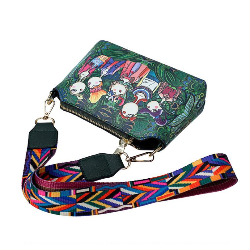 2018 Hot Sale Crossbody Bags Women Leather Messenger Bags Forest Girls Pattern Printing Single Shoulder Colorful Straps HandbagT
