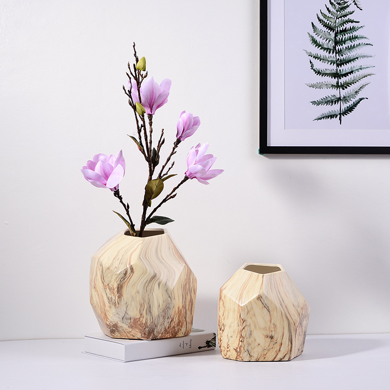 Mewarnai Geometri Keramik Vas Untuk Pernikahan Rumah Dekoratif Vas