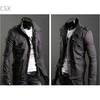 MwOiiOwM Casual outwear Men's Jacket Zip Coat Jacket M, L, XL, XXL Dark Gray, Black, Army Green free shipping 29