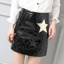 2019 Women Slim Genuine Sheep Leather Skirt P14