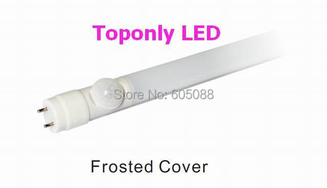 High Quality t8 human sense tube lamp 18w led pir sensor tube light AC100 265v clear/frosted cover 10pcs/lot DHL free shipping