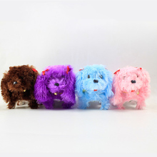 Electronic Pets Robot Dogs Bark Stand Walk Light Cute Interactive Toys Plush Doll Dog Electronic Toys For Kids random color стоимость