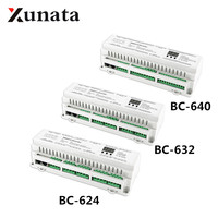 DMX512 DIN Rail 24CH 32CH 40CH Constant Voltage PWM Decoder 3 digital display shows large scale projects Controller