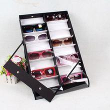 Современный 16 Отсек Очки Хранения Организатор Box Солнцезащитные Очки Витрина Бесплатная Доставка