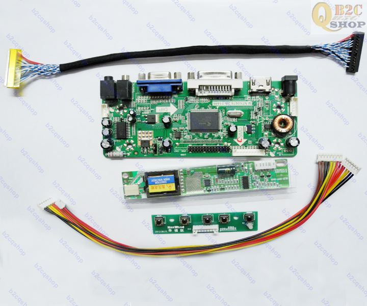 C1 HDMI+DVI+VGA LCD Lvds Controller Board Kit for Panel LP150X05 1024X768 A2