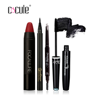 Cocute Makup Tool Kit 4 PCS Must Have Cosmetics Including Lipstick Eyebrow Pen Eyeliner And Mascara