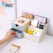 BNBS, офисные многофункциональные настольные хранилища для всяких мелочей, маленький ящичек, коробка-органайзер для макияжа и помады, пластиковый контейнер для бижутерии и косметики