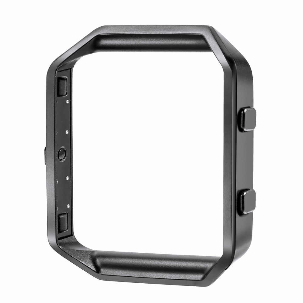 Fitbit Blaze Band Bingkai Stainless Steel Pengganti Logam Frame Perumahan untuk Fitbit Blaze Smart Watch Perak Hitam
