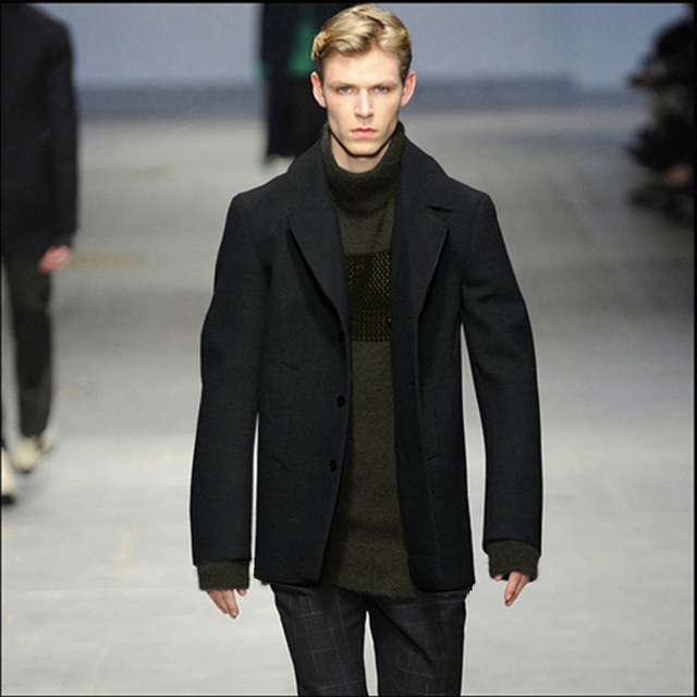 official photos 252ed ec928 US $67.55 |Su misura codice formato di Lana Lungo cappotto runway British  cappotto maschile Sottile cachemire cappotto maschile breve paragrafo di ...