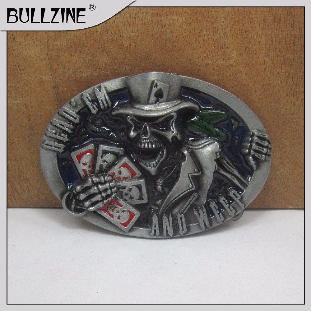 Оптовые продажи черепа bullzine gamble пряжка ремня с оловянной отделкой FP-03121 подходит для пояса шириной 4 см