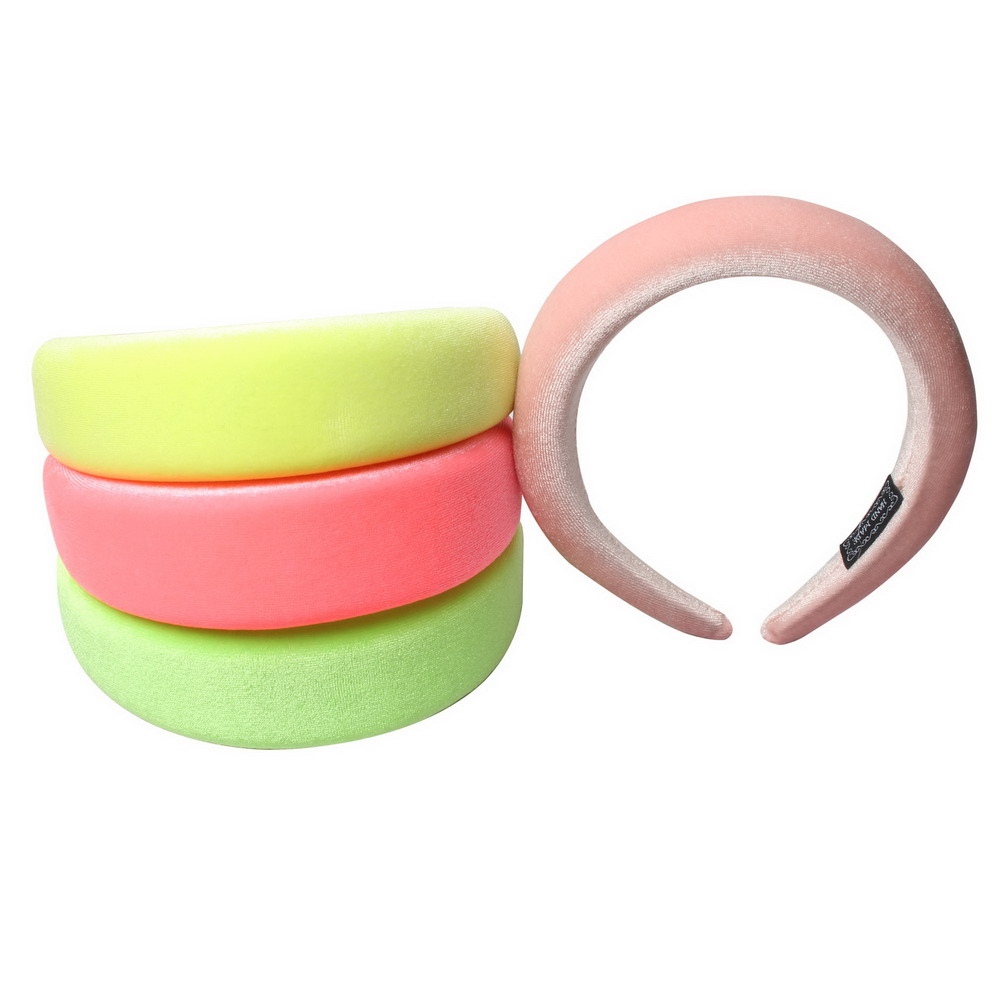Thick Sponge Velvet Neon Hairbands Headbands Hair Accessories Head Band Fashion Headwear 4CM Wide Plastic Hair Bands For Woman