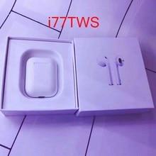 Горячая продажа i77 TWS 1: 1 tws Bluetooth 5,0 Беспроводные наушники с усиленным басом для apl