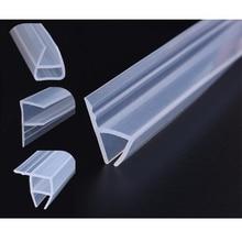 Зазоры для стеклянных дверей и окон h-образные уплотнительные полосы изогнутые Резиновые Защиты