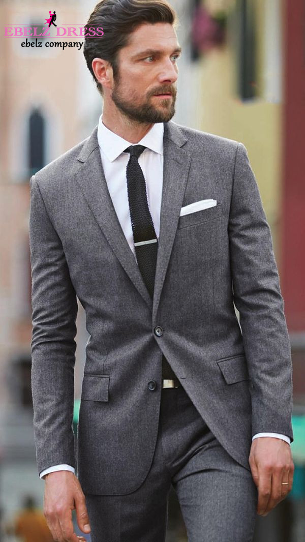 Dark Grey Plaid Suit Dress Yy