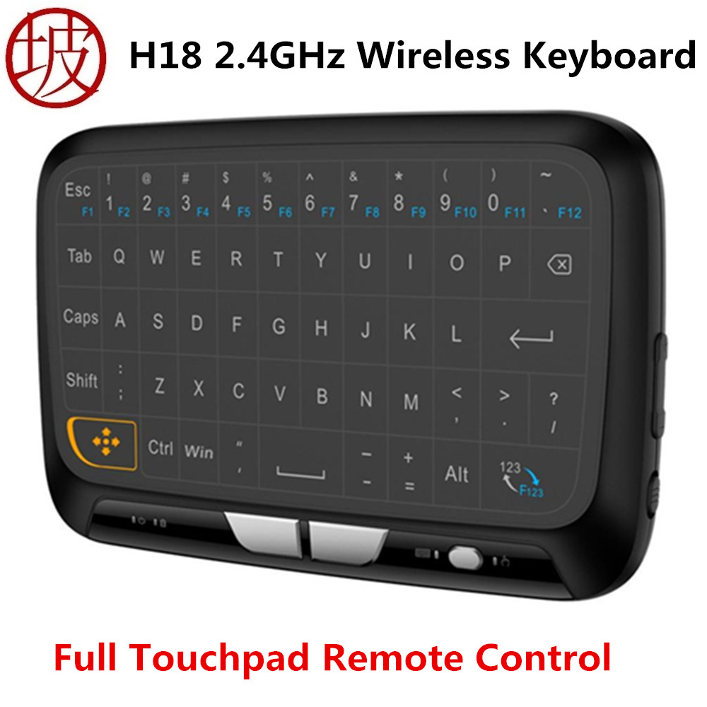 H18 Mini Wireless Keyboard 2.4GHz Portable Keyboard With Touchpad Mouse for Windows Android/Google/Smart TV Linux Windows Mac neil cherry linux smart homes for dummies